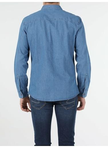 Colin's Denim Slim Fit M Denim Erkek Uzun Kol Gömlek Renkli